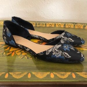Gap Blue and Silver Fabric Flats
